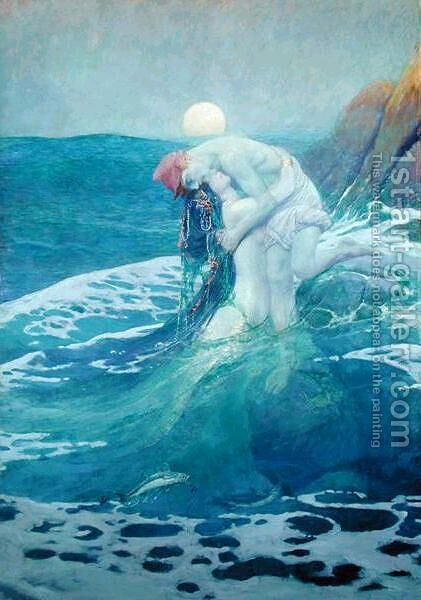 The Mermaid, 1909 by Howard Pyle - Reproduction Oil Painting
