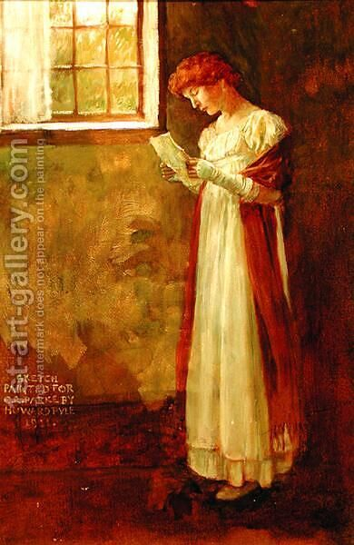 Untitled Woman by a Window, 1911 by Howard Pyle - Reproduction Oil Painting