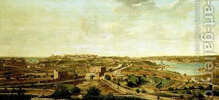 View of Valetta, Malta by Alberto Pulicino - Reproduction Oil Painting