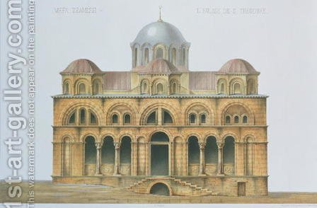Facade of Mefa Dzamissi, the Church of St. Theodore, from Church Architecture of Constantinople, pub. by Lehmann and Wentzel of Vienna, c.1870-80 by (after) Pulgher, D. - Reproduction Oil Painting