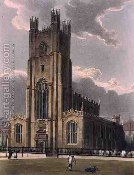 St. Marys Church, Cambridge, from The History of Cambridge, engraved by Daniel Havell 1785-1826, pub. by R. Ackermann, 1815 by (after) Pugin, Augustus Charles - Reproduction Oil Painting
