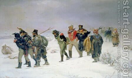 In the Year of 1812, 1874 by Illarion Mikhailovich Pryanishnikov - Reproduction Oil Painting