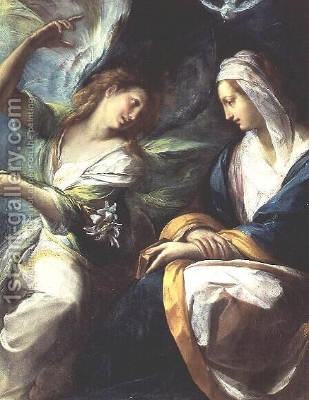 The Annunciation, c.1610 by Giulio Cesare Procaccini - Reproduction Oil Painting