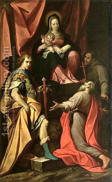Madonna and Child with St. Vitalis, St. Jerome and St. Francis by Camillo Procaccini - Reproduction Oil Painting