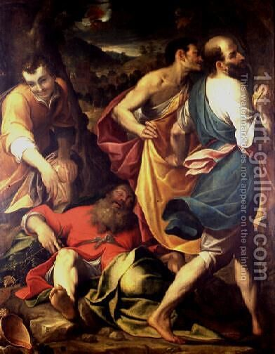 The Drunkenness of Noah by Camillo Procaccini - Reproduction Oil Painting