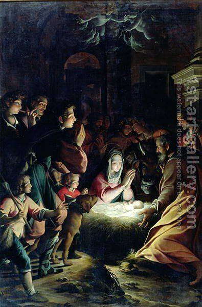 Adoration of the Shepherds by Camillo Procaccini - Reproduction Oil Painting