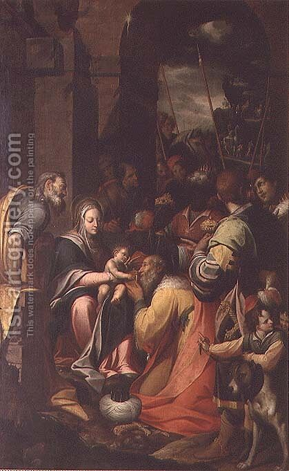 Adoration of the Magi by Camillo Procaccini - Reproduction Oil Painting
