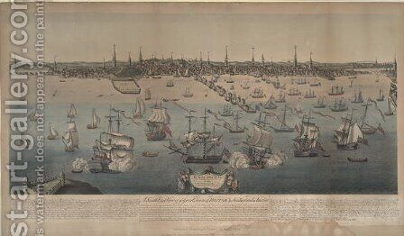 A southeast view of the great town of Boston in New England, engraved by Edwin Whitefield 1816-92 1848 by (after) Price, William - Reproduction Oil Painting