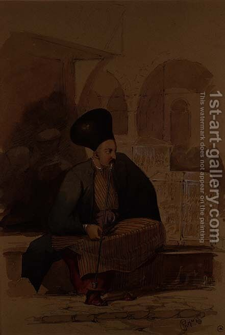 An Armenian Merchant by Amadeo Preziosi - Reproduction Oil Painting
