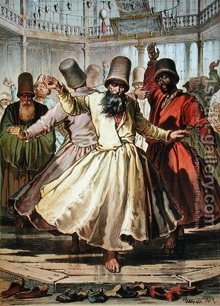 Dancing Dervishes, 1857 by Amadeo Preziosi - Reproduction Oil Painting