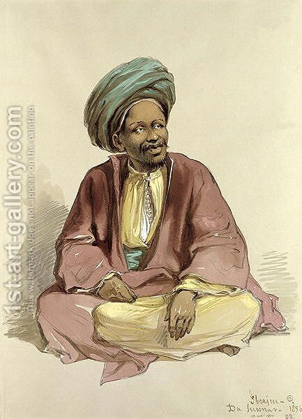 Ibrahim - from Sunnar, 1856 by Amadeo Preziosi - Reproduction Oil Painting