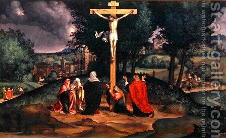 The Crucifixion, 1515-20 by Andrea Previtali - Reproduction Oil Painting