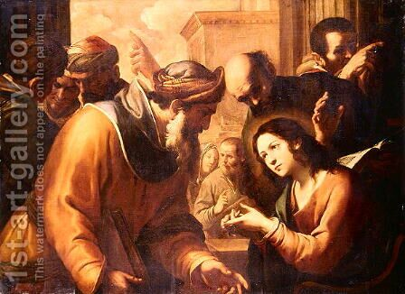 Christ Disputing with the Doctors, c.1660s by Gregorio Preti - Reproduction Oil Painting