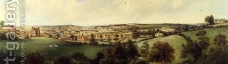 Panoramic View of Stoke on Trent by Henry Lark Pratt - Reproduction Oil Painting