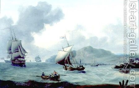 Shipping off Tenerife Island by Charles Martin Powell - Reproduction Oil Painting