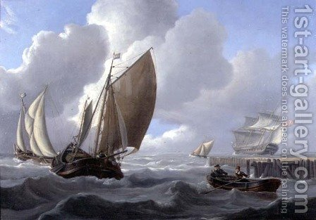 Shipping off the Dutch Coast by Charles Martin Powell - Reproduction Oil Painting