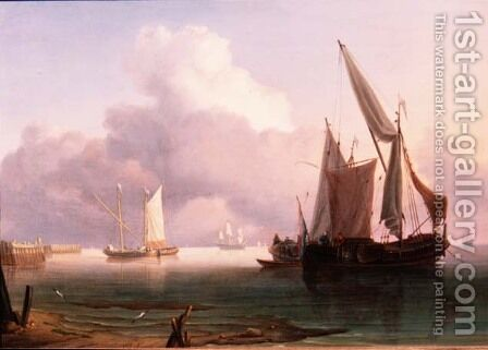Becalmed Estuary with Dutch Pinks by Charles Martin Powell - Reproduction Oil Painting