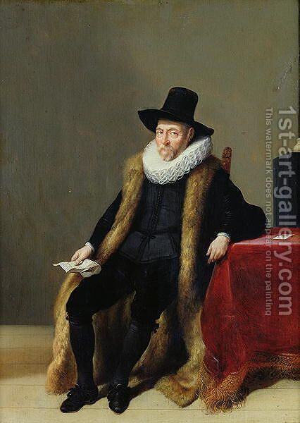 Portrait of a Man by Hendrick Gerritsz Pot - Reproduction Oil Painting