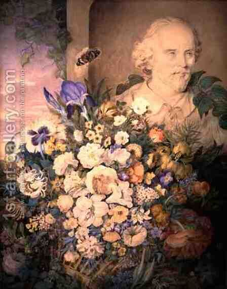 The Flowers of Shakespeare, c.1835 by Clara Maria Pope - Reproduction Oil Painting