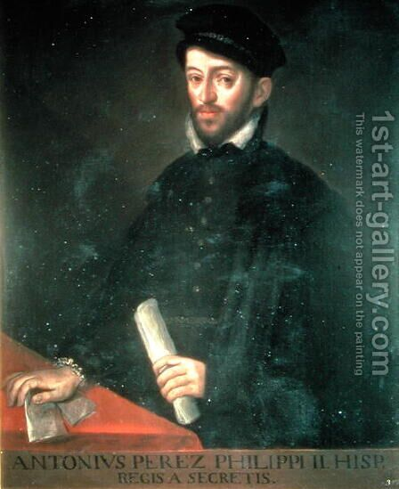 Portrait of Antonio Perez 1540-1611 politician and secretary to Philip II by Antonio Ponz - Reproduction Oil Painting