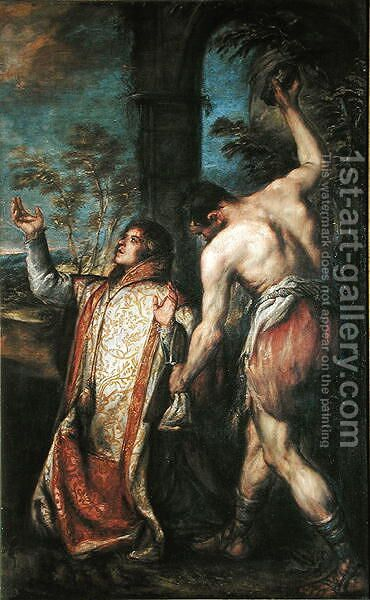 The Martyrdom of St. Stephen by Diego Polo - Reproduction Oil Painting