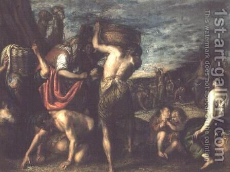 The Fall of Manna by Diego Polo - Reproduction Oil Painting