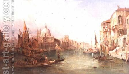 A View of the Grand Canal, Venice by Alfred Pollentine - Reproduction Oil Painting