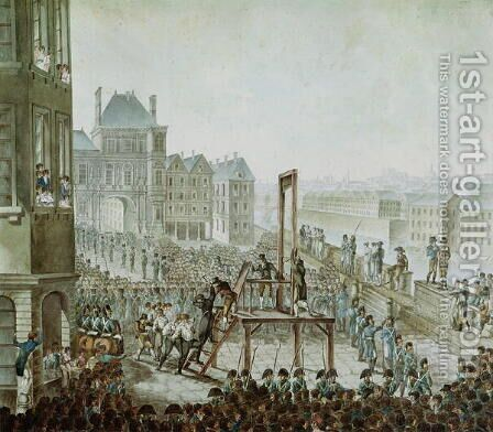 The Execution of Georges Cadoudal 1771-1804 and his Accomplices, Place de Greve, 25th June 1804 by Armand de Polignac - Reproduction Oil Painting