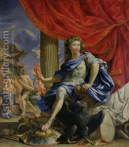 Louis XIV 1638-1715 as Jupiter Conquering the Fronde, 1648-67 by Charles Poerson - Reproduction Oil Painting
