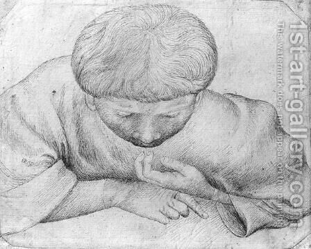 Boy reading, from the The Vallardi Album by Antonio Pisano (Pisanello) - Reproduction Oil Painting