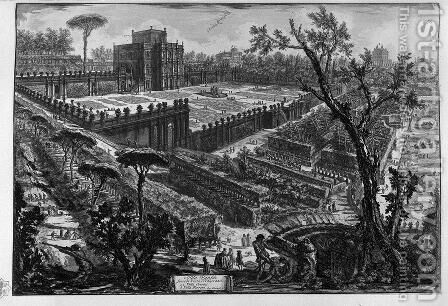 Villa Pamphili, from Opere Varie di Architettura, Prospettive, Grotteschi, Antichita, published 1743 by Giovanni Battista Piranesi - Reproduction Oil Painting