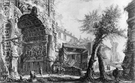 Arch of Titus by Giovanni Battista Piranesi - Reproduction Oil Painting