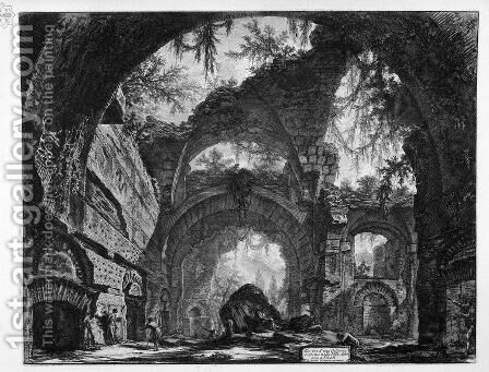 Ruined Gallery of the Villa Adriana at Tivoli by Giovanni Battista Piranesi - Reproduction Oil Painting