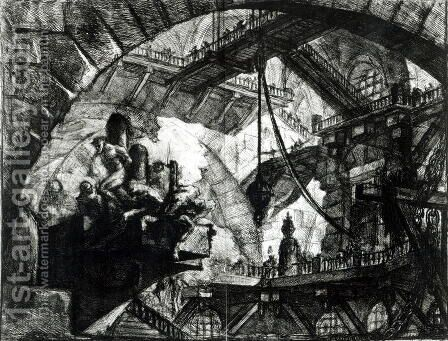 Carceri dInvenzione Series, 1745 and 1760 by Giovanni Battista Piranesi - Reproduction Oil Painting