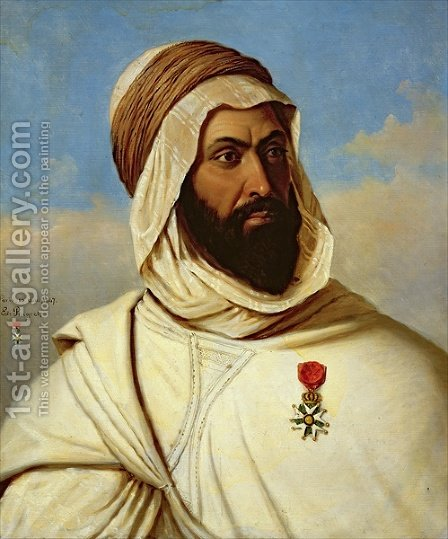 Portrait of Ahmed Ben-Ferruch, 1847 by Edouard Pingret - Reproduction Oil Painting