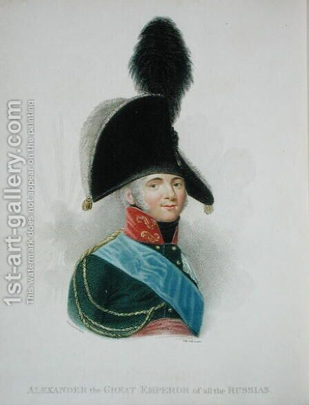 Alexander 1777-1825 the Great Emperor of all the Russias by (after) Pinchon, Jean Antoine - Reproduction Oil Painting