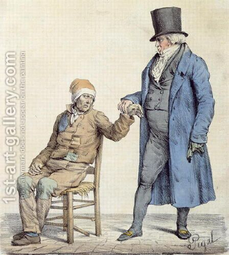 You are Fine, depiction of the poor mans doctor, engraved by Langlume fl.1822-24 1825 by (after) Pigal, Edme Jean - Reproduction Oil Painting