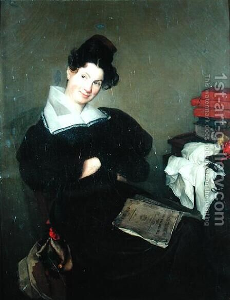 Portrait of Madame Bail, c.1830 by (after) Pigal, Edme Jean - Reproduction Oil Painting