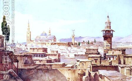 A View of Damascus by Charles Pierron - Reproduction Oil Painting