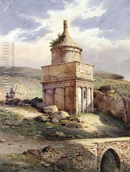 Absaloms Tomb, Jerusalem by Charles Pierron - Reproduction Oil Painting