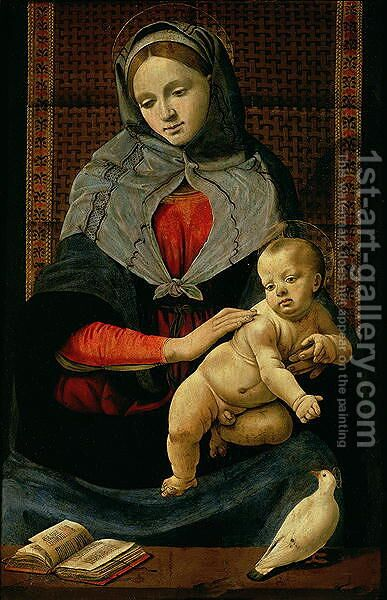 Madonna and Child with a Dove by Cosimo Piero di - Reproduction Oil Painting