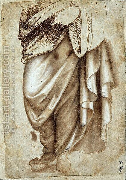 Study of a Standing Figure in Drapery by Cosimo Piero di - Reproduction Oil Painting