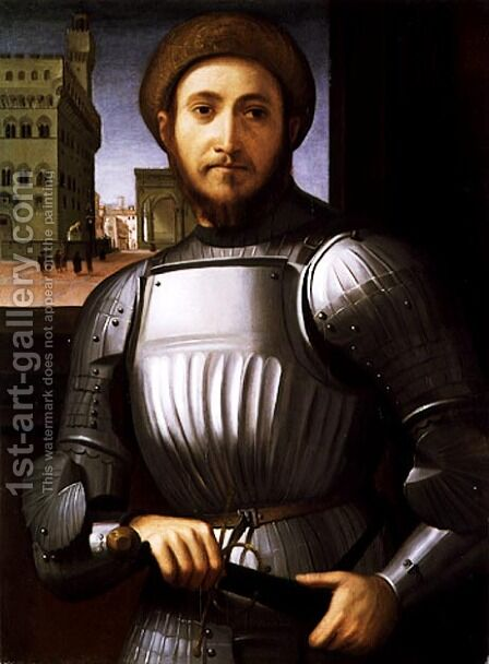 Portrait of a Man in Armour by Cosimo Piero di - Reproduction Oil Painting
