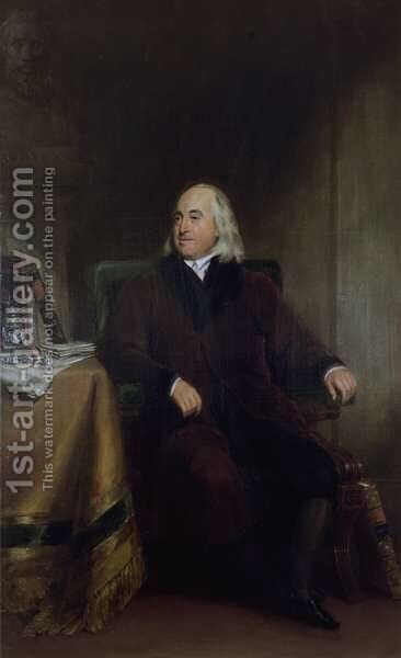 Jeremy Bentham, c.1829 by Henry William Pickersgill - Reproduction Oil Painting