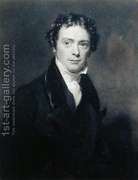 Portrait of Michael Faraday 1791-1867 engraved by Samuel Cousins 1801-87 1830 by (after) Pickersgill, Henry William - Reproduction Oil Painting