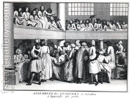 A Quaker Assembly in London, 1736 by (after) Picart, Bernard - Reproduction Oil Painting