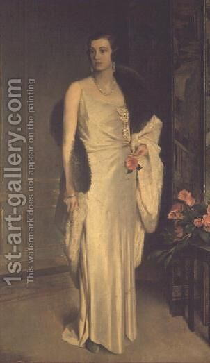 Portrait of Loelia, Duchess of Westminster, now Lady Lindsay by Glyn Warren Philpot - Reproduction Oil Painting
