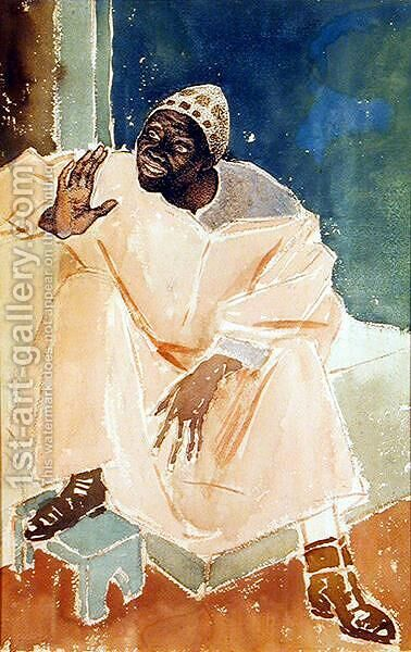 Seated Moroccan, 1936 by Glyn Warren Philpot - Reproduction Oil Painting