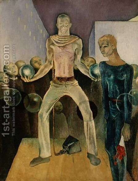 Weightlifting, Berlin 1931 by Glyn Warren Philpot - Reproduction Oil Painting