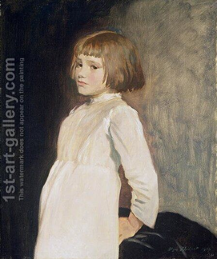 Gabrielle Cross, the Artists Niece, 1919 2 by Glyn Warren Philpot - Reproduction Oil Painting